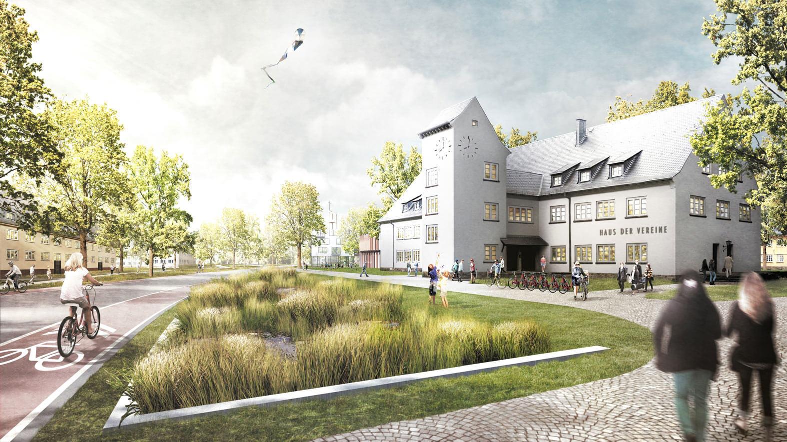 SSG Nachhaltiger Masterplan Oxford Kaserne Mulde dry